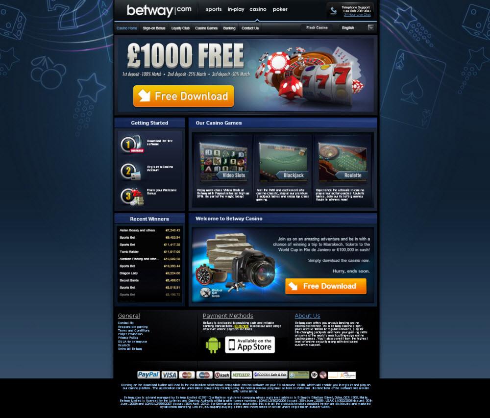 Download Casino Betway